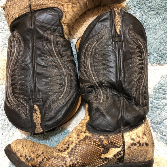 Mens Python Snakeskin Cowboy Boots By